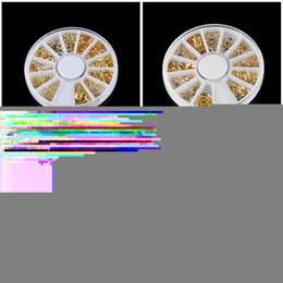 $enCountryForm.capitalKeyWord NZ - 1 Wheel Fashion Women 3D DIY Gold Multi-shaped Alloy Multi-shaped Metal Nail Art Studs Sticker Tips Manicure Decal