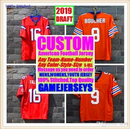 Retro Football Jerseys NZ - Custom american football jerseys Cincinnati Miami college authentic retro rugby soccer baseball basketball hockey jersey 4xl 6xl 8xl blue