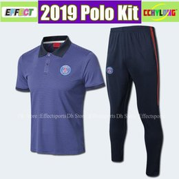 BreathaBle man pants online shopping - Psg polo shirt long pants psg aJ soccer Tracksuit paris saint germain MBAPPE chandal futbol air jorDAM jogging kits soccer set