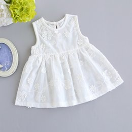 $enCountryForm.capitalKeyWord Australia - Baby girl clothes girl dresses lace white Princess Dresses cotton Baby Dresses Summer Infant Dress baby infant girl designer clothes A3474