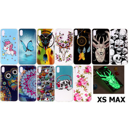 owl iphone cases Australia - For iPhone XS Max Case Soft TPU Cover Pug Dog Owl Unicorn Deer Flower Butterfly Feather Windbell Glow in Darkness(XS Max)