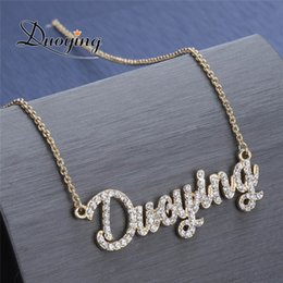 Necklaces Pendants Australia - Duoying Crystal Pendant Necklace For Women Stone Chain Zirconia Necklaces Women Personalized Necklace With Names Initial Letters J190531