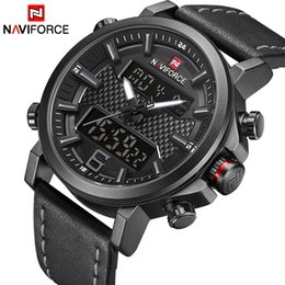 sinobi quartz watch men Australia - 2019 Naviforce New Men's Fashion Sport Watch Men Leather Waterproof Quartz Watches Male Date Led Analog Clock Relogio Masculino T190701