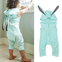 $enCountryForm.capitalKeyWord Australia - New Girls Baby Jumpsuits Cartoon Rabbit Ears Toddler Rompers Clothing Summer Sleeveless Romper Boutique Onesies Clothes free shipping