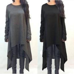 $enCountryForm.capitalKeyWord Canada - Zanzea Women Sweater Dress 2018 Autumn Long Sleeve Asymmetric Hem Casual Loose Knitted Midi Vestidos Womens Clothes Plus Size Y19012201
