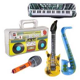 $enCountryForm.capitalKeyWord NZ - 5pcs Inflatable Musical Toy Radio Instruments Microphone Set Cool Fun Instruments Inflatable Toys Decorations Props Party Favor