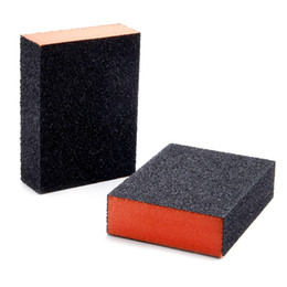 Sponge Blocks Australia - Abrasive Tools DRELD 2Pcs Abrasive Foam Polishing Sanding Sponge Block Sandpaper Assorted Grit 80 Grinding Buffing Pad Polishing Tools