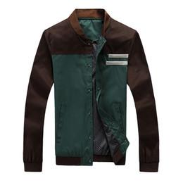 $enCountryForm.capitalKeyWord Australia - Spring Autumn Fashion Men Jacket Spliced Patches Designs Casual Jackets Men Baseball Uniform Size M-4XL Leisure Youth Coats