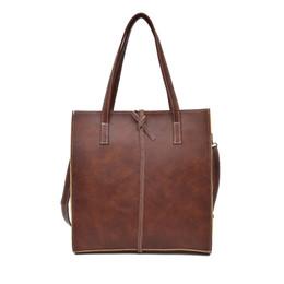 girls fashion simple handbags 2019 - Women's Bag Simple Fashion Handbag Retro Single Shoulder Bag Leisure Suitble Totes Pure Thread Shoulder Bags discou