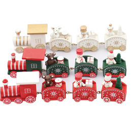 kindergarten christmas gifts Australia - 21cm New Painting Snowflake Christmas Train Wooden Xmas Decoration Kindergarten kid toys gift ornament navidad new year Gift LA282