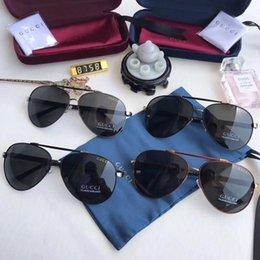 Coating Mirror Australia - Gafas de sol Luxurys Men and Women Brands Sunglasses Fashion Oval Sun glasses UV Protection Lens Coating Mirror Lens Frameless Color Plate