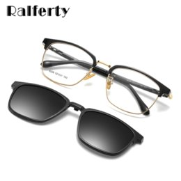 Magnetic clips sunglasses online shopping - Ralferty In Multi function Optical Frames Polarized Magnetic Sunglasses Female Male Glasses With Clip On Square Frame Z8028