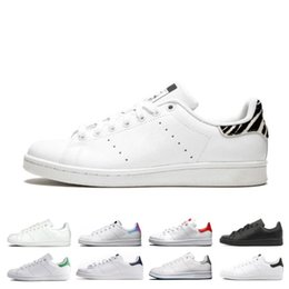 dfe3fbb9c64 designer smith men women casual shoes green black white blue red pink silver  mens stan fashion leather shoe flats sneakers size 36-44