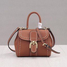 small genuine leather bag Canada - Luxurious2019 Leather Genuine Manual Woman Package Concise Single Shoulder Cowhide Small Square Car Suture Messenger Portable Bag