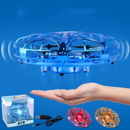 $enCountryForm.capitalKeyWord NZ - HOME-New UFO Mini Flying RC Infraed Induction Helicopter Toys USB charging Flashing Light Aircraft For Kid funny Airplanes