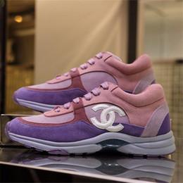 venda por atacado Designer das mulheres Suede Calfskin Sneaker Moda Tênis de Treinador De Luxo Novo Estilo Mulheres Sapatos Casuais Top Quality Tamanho 35-42