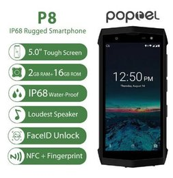 POPTEL P8 IP68 Waterproof Smartphone 5.0 Inch MTK6739 Quad Core 3750mAh 2GB+16GB 5MP+8MP Walkie Talkie NFC Android Mobile Phone on Sale