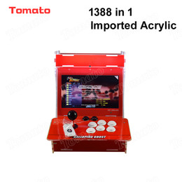 Machines Video Game NZ - Tomato High quality Hot Sale Imported Acrylic 1388 in 1 Red Mini Multi Video Game Model Indoor Arcade Game Machine For 2 Players