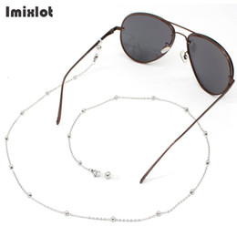 $enCountryForm.capitalKeyWord NZ - Fashion Womens Stainless Steel Eyeglass Chains Sunglasses Reading Beaded Glasses Chain Eyewears Cord Holder Neck Strap Rope