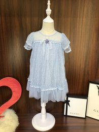Fashion Trends Lace Dress Australia - Children suits kids clothing latest summer fashion trend refreshing casual ultra-thin breathable brand girls lace skirt dress