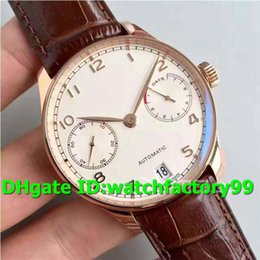Swiss Power NZ - ZF Top Luxury 500701 Watch Power reserve 18K Rosegold Case White Dial Brown Leather Strap Swiss 52010 Automatic Sapphire Crystal Mens Watch
