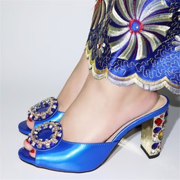 italian showers NZ - New Arrival African Women Sexy High Heels Pumps Colorful Rhinestones in Heels Ladies Pumps Italian Women Sandal Shoes for Party