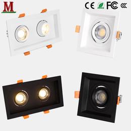 Discount rectangular ceiling lights - LED single head   double head zoom spotlight 5w 7w 10w 14w 15w20w 30w recessed ceiling light square   rectangular downli