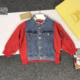 $enCountryForm.capitalKeyWord Australia - Boy jacket fashion trend jacket for boy new denim jacket imported washed denim fabric comfortable and breathable