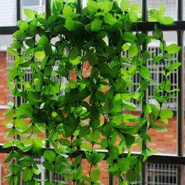 Decorative vine plant online shopping - Ceiling Ceiling Decorative Plant Leaves Wreaths Simulation Triangular Leaf Green Plant Ivy Plants Party Supplies jl E1