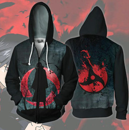 $enCountryForm.capitalKeyWord Australia - Uchiha Sasuke hoodies Naurto anime fleece 3D shirt clothing Cartoon cosplay tops Print coat Outdoor cotton jacket Colorfast sweatshirts