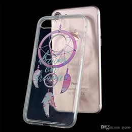 tpu case prints for samsung NZ - Clear Transparent Case 3D Printed Dreamcatcher with Bling Diamond TPU Back Cover for iPhone X 8 7 6 Plus Samsung S9 8 Plus Huawei P10 OPP