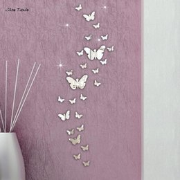 Chinese 3d Wall Stickers NZ - ISHOWTIENDA 30PCS Butterfly Combination 3D Mirror Wall Stickers Home Decoration DIY Household Livingroom Bed Room Decoration New D19011702