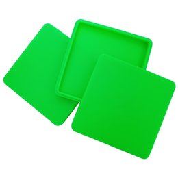$enCountryForm.capitalKeyWord Australia - Sample 1 PC Large Square 200ml Silicone Storage Box Flat Pizza Dab Cases Big Non-stick Wax Container For Dry Herb