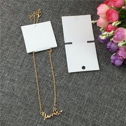 Wholesale White Classic Fashionable Necklace Hand Chain Bracelet Kraft Paper Card Accept Custom Foldable Jewelry Cards x5cm