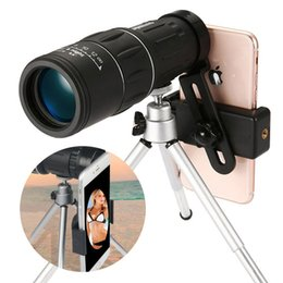 Monocular Telescope Bird Watching Australia - Portable Monocular Telescope 16x52 66M-8000M Single Focus Day Night Vision Travel with Phone Clip Bird Watching Hunting With Universal Clip