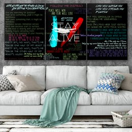 More Painting One Australia - Canvas Posters Home Decor Wall Art Framework 3 Pieces Twenty One Pilots No3 Paintings For Living Room HD Prints Modern Band Pictures