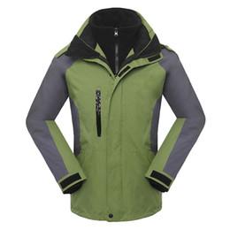 Jaqueta de esqui de inverno Ao Ar Livre homens jaquetas esportivas 3 em 1 jaqueta à prova de vento manter quente Windbreaker velo dentro de jaquetas à prova d 'água em Promoção