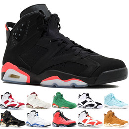 basketball dunking shoes UK - Top popular 6 Infrared 23 Pantone Men Basketball Shoes Maroon Black Cat Carmine Pantone Slam Dunk 6S stylist Sports Trainers 7-13