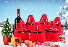 Christmas Gift Box Decoration Australia - 21*14.5Cm Hot Sale Christmas Candy Bags Wedding Box Candy Gift Red Portable Gifts Cute Overalls Christmas Decoration Party Accessories