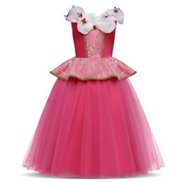 Halloween Balls Australia - Halloween Princess Dress Girl Cinderella Cosplay Costume Children Long Prom Ball Gown Party Christmas Kids Girls Clothes 4 8 10Y