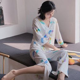 $enCountryForm.capitalKeyWord NZ - 2019 summer new style William Jacquard ladies home clothes Japanese and Korean style suit loose pajamas