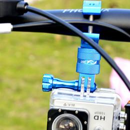 Gopro Bicycle Australia - Aluminum Alloy Bicycle Fixed Bracket Camera Shooting Holder Support For GoPro Hero 4 3+ 3 2 1 #671923
