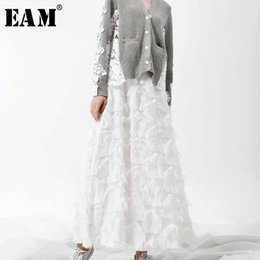77ddf31a9 [wholesale] 2019 Spring New Fashion Black White Tassels Stitching Big  Pendulum Long Type Half-body Skirt Women