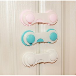 door clamps 2019 - Children cabinet door safety lock 7 colors protect children drawer cabinet door anti-clamp multi-function child safety l