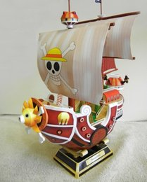 semi finished toys NZ - THOUSAND SUNNY Going Merry Pirate Ship One Piece Toy Action Figure 3D Paper Model Collection Luffy Zoro Y200421