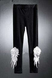 $enCountryForm.capitalKeyWord Australia - Summer and autumn new men's dark wings tight hip hop leggings nightclub show elastic casual pants