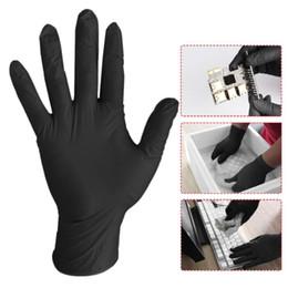 Großhandel 100Pcs / lot Waschhandschuhe Bequeme Gummi Einweg-Mechaniker Nitril Handschuhe Schwarz Dish Washing Handschuhe Guantes Para Lavar Platos