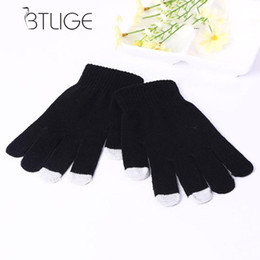 Discount multi screen phone - BTLIGE Unisex Winter Warm Gloves New Screen Gloves Iphone Ipad Smartphone Phone Magic Black
