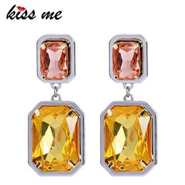 $enCountryForm.capitalKeyWord Australia - Women Glass Crystal Earrings Champagne Geometric Dangle Earrings Fashion Jewelry Accessories