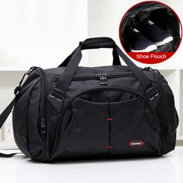 mens sports gym bag Australia - funky mens Long Distance Travel gym or sports blank nylon gym sports bag duffle travel bag Hip-Hop Polyester r